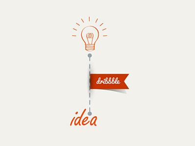 Concept Vector dribbble idea blub idea dribbble vector concept