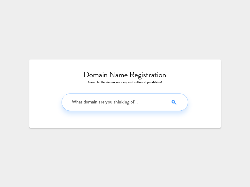 Domain Name Registration Search by Jack Earsman on Dribbble