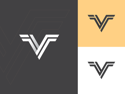 """Logo concept - """"Vince"""" vector illustrator design 2d flat minimal clean logo design logo logo concept v"""