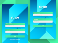 Stripe Login Interface Design
