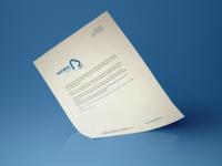 Natural Blue hire letterhead strategic logo design water blue natural design stationery brand identity logo