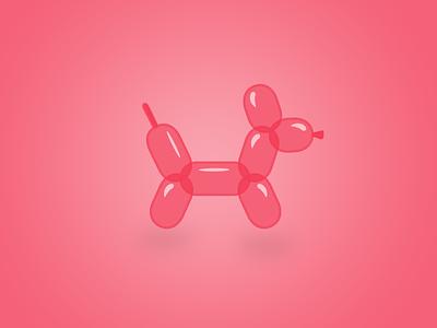 Balloon Animal balloon animal dog logo logopond pink design illustrator