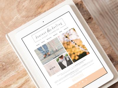 Dearest & Darling Event Planning — Website Design