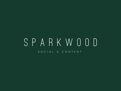 Sparkwood Social + Content — Minimal Logo Concept