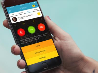 Menu Overlay for Video App designli colorful ios7 flat ios design app mobile iphone