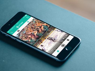 Instagram-esque Anonymous Repeating Videos App vine videos ux ui app android ios designli pinser instagram