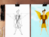 Custom Angel Illustrations for the Angel Mail iPhone App