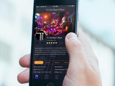 Dark & Sleek Music App UI Design designli ux design concert concerts music android mobile app iphone ui dark