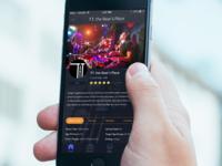 Dark & Sleek Music App UI Design