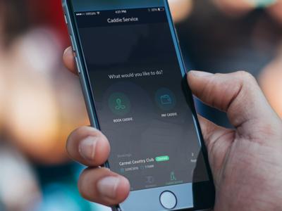 Golf Caddie Service ClubUp Design ux ui app iphone service caddie uber clubup