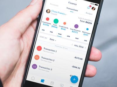 Personal Finance Management App UI Design development design wallet management money app finance personal