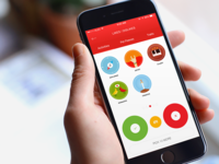 Custom Icon Illustration and App UI Design