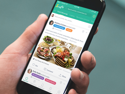 SrvdUp Hospitality Social Network App - Designli App Development user interface user experience iphone app app design app development designli srvdup