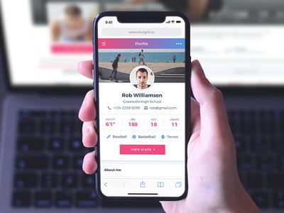 Clean Gradient Profile Design - App and Website UI designli development design gradient profile mobile app