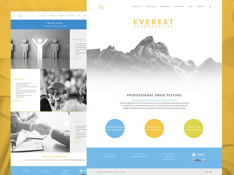 Everest Laboratories web development web design web white clean website