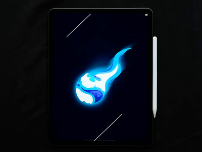 Asteroid ☄️ 2d 3d universe game fireball tutorial draw drawing design web apple ipad speedpaint procreate motion animation meteor space comet asteroid