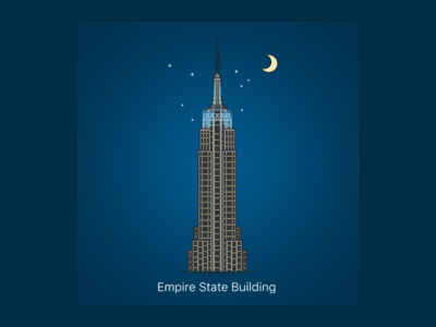 Empire State Building empire state new york empire state building star stars moon sky night city svg vector