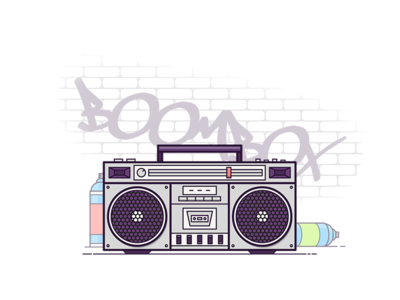 Boombox vector graffiti spray paint spray tape player record player sounds music boombox boom box