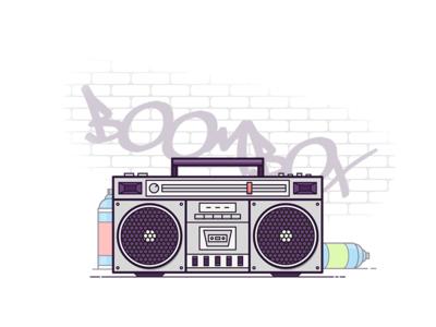 Boombox vector graffiti spray paint spray tape player record player sounds music boombox boom box