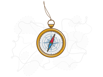 Compass compas icon illustrator illustration vector camp hike hiking map guide graphic compass