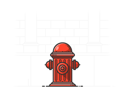 Hydrant icon lineart illustrator object illustration vector street fireplug hydrant