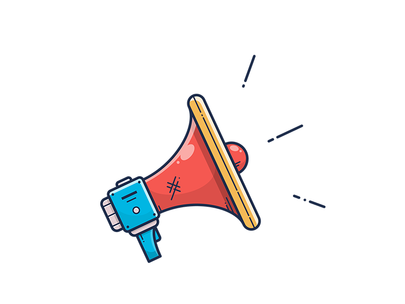 Megaphone Icon reproducer loadspeaker speaker illustrator vector illustration icon megaphone notification event