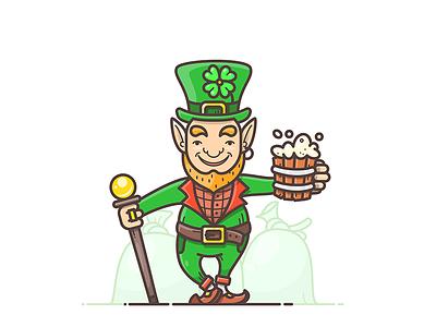 St. Patrick's Day green hat gnome leprechaun clover irish gold beer day patricks saint st.