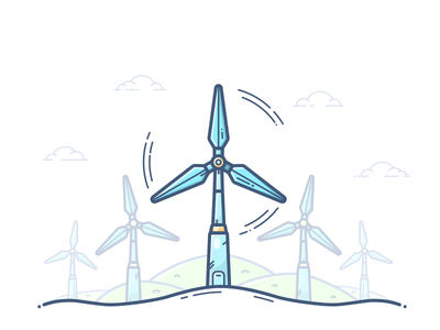 Wind Turbine environment electricity sustainable icon illustration vector power tesla energy generator turbine wind