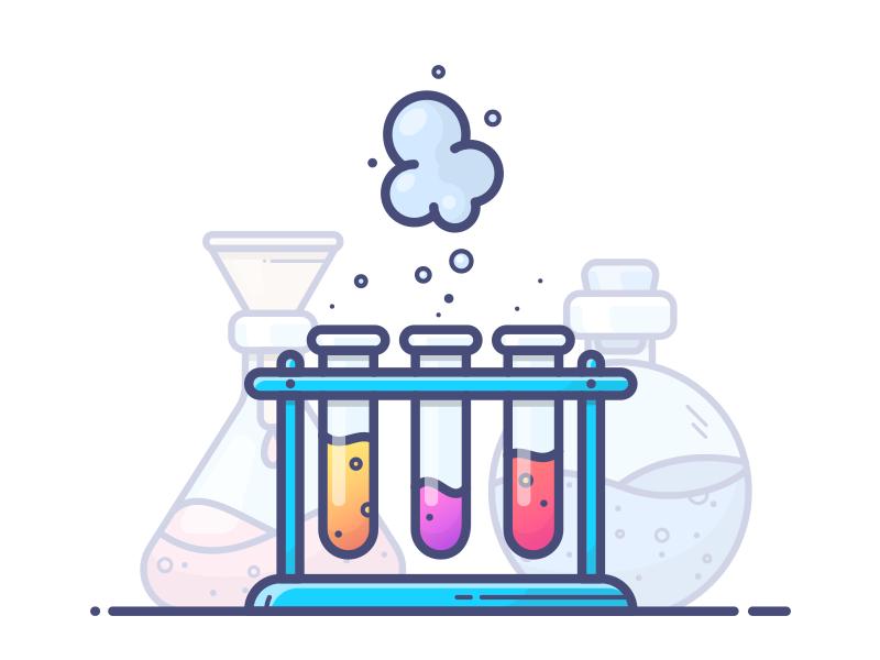 Chemistry outlane illustration icon vector gradient potion tube flask bottle chemicals chemistry