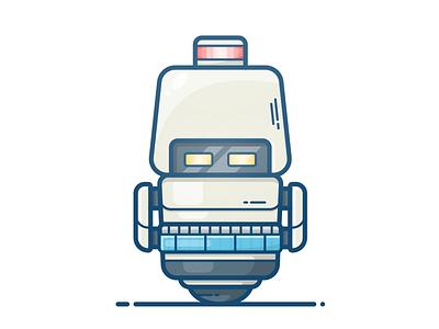 M-O Robot vector illustration icon character wall-e walle machine robot mo m-o