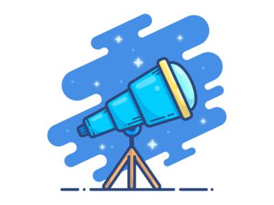 Telescope vector telescope stars sky scope magnifier loupe illustrator illustration icon glass space