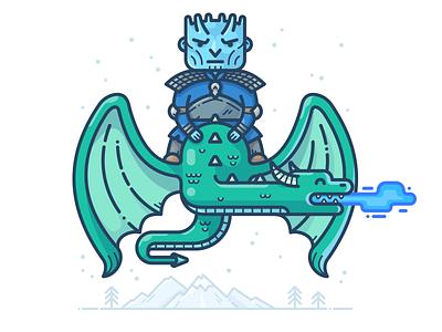 The Night King vector winter illustration icon got man game of thrones dragon fantasy character king night