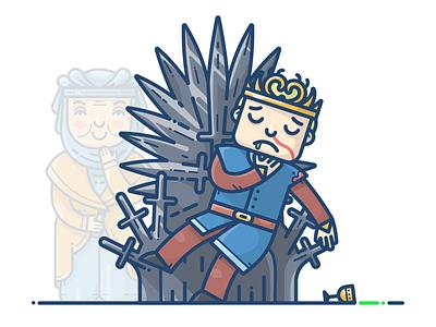 Joffrey Baratheon crown throne poison boy king baratheon joffrey got game of thrones