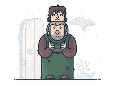 Hodor And Bran Stark winter throne got game of thrones raven boy hodor bran srark