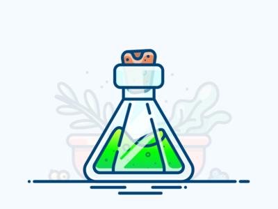 Detox Potion vector asset illustrator illustration icon art game bottle flask gradient green potion