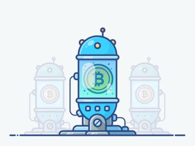 Bitcoin Farm blockchain future icon illustration asset object vector space planet cryptocurrency bitcoin incubator