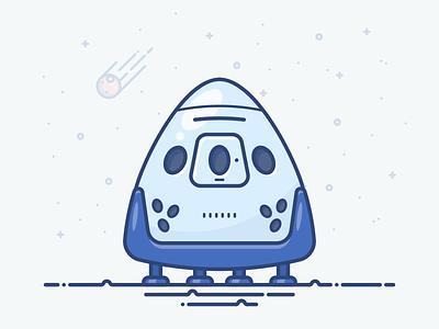 SpaceX Dragon spaceship stars moon mars heavy dragon musk elon x space spacex