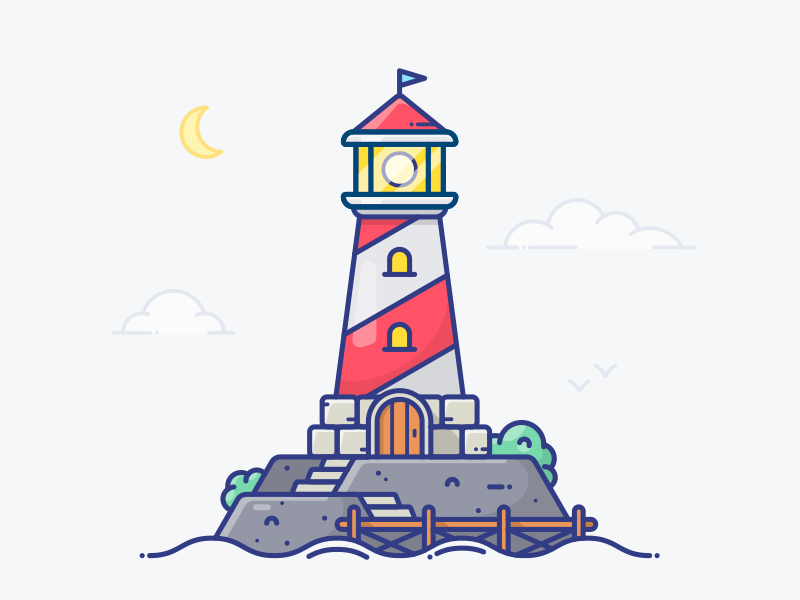 Lighthouse ship graphics picture island house pirate illustration icon building ocean sea lighthouse
