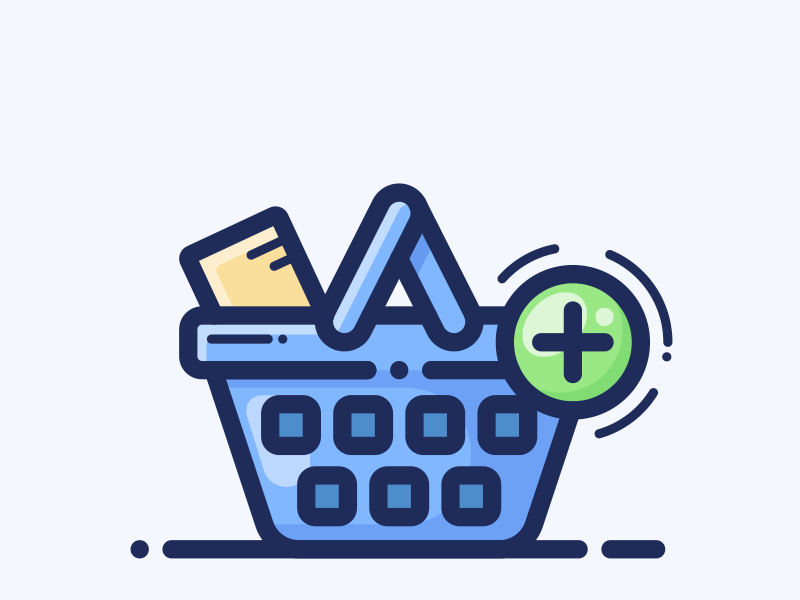 Before Checkout Upsell store button buy shop product illustration plus basket bag cart icon