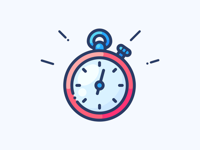Timer logo clock time work object illustrator adobe illustration design web vector icon stop stopwatch illustration timer
