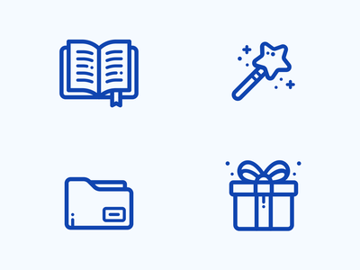 Line Icons mage wizard image svg graphics web set illustration icon gift present folder book wand magic icons line