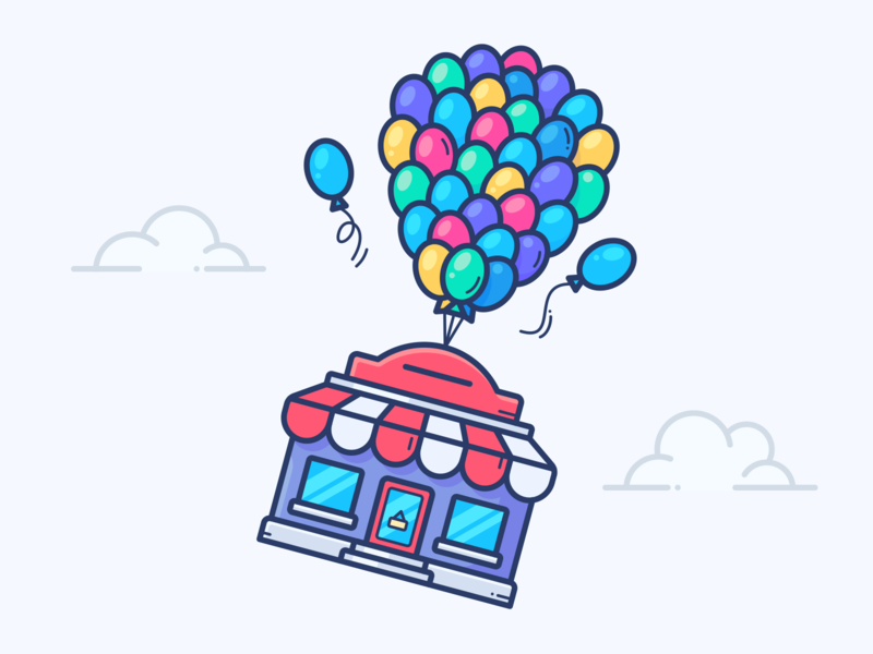 To The Stars! plane air space outline vector illustration icon aircraft balloon sale boost store shop house home flying fly