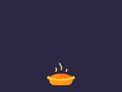 Pumpkin Pie stream thanksgiving after effects illustrator likes younow vector roaster character gift graphics motion animation pie pumpkin