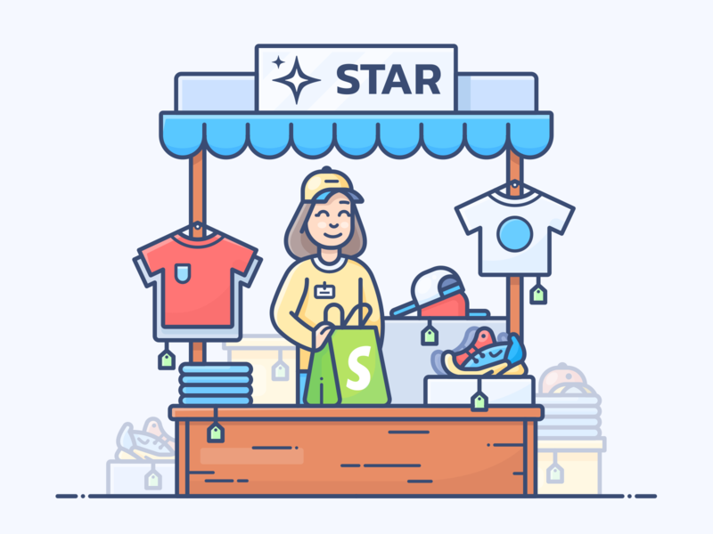 Star ⭐️ Shopify Theme e-commerce ecommerce star freebie free article theme blog shop store shopify web work design outline character illustrator vector icon illustration