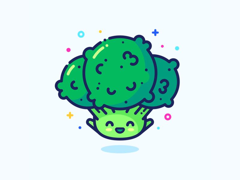 Broccoli hero character food outline set series small web green little cute illustrator vector design illustration sticker pin icon vegan broccoli