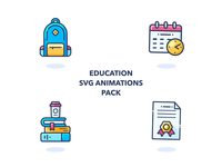Animated Education Icons