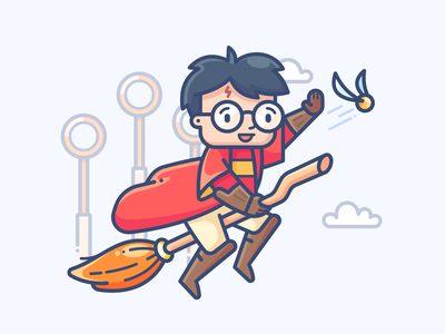 Harry Potter speedpaint art set series boy man ipad procreate fun magic drawing character design sticker illustrator vector fanart icon illustration harry potter