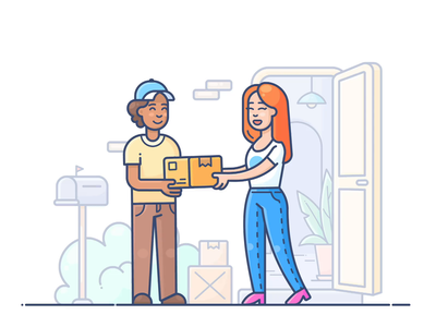 Delivery courier fast delivery design outline web onboarding icon illustration lottie svg shopify commerce e-commerce shop store online animation motion dropshippihg