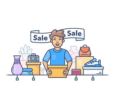 Sale sale design outline web onboarding icon illustration lottie svg shopify commerce e-commerce shop store online set pack animation motion dropshippihg