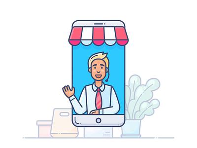 Support help support phone design outline web icon illustration lottie svg shopify commerce e-commerce shop store online pack animation motion dropshippihg